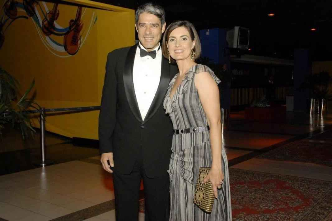 Fátima Bernardes e William Bonner em 2008